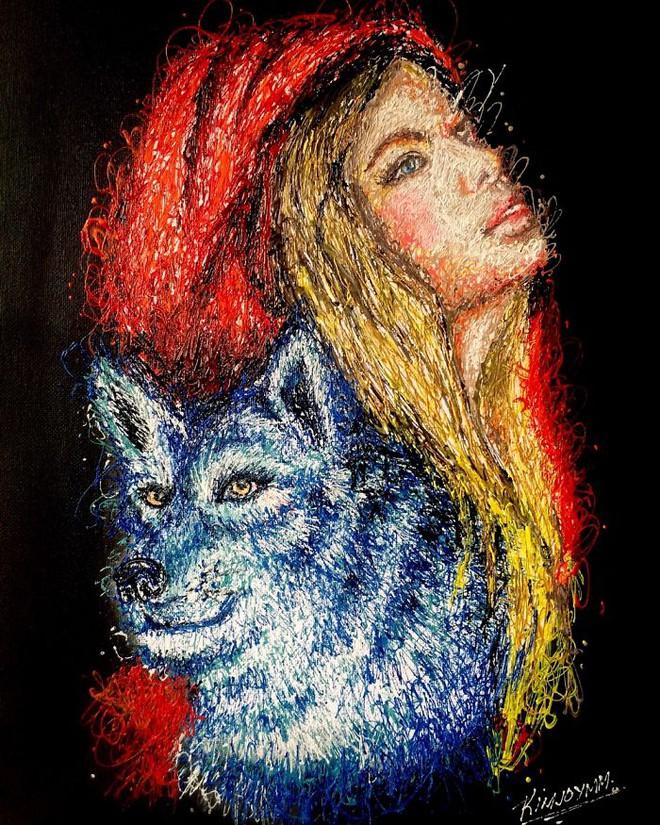 Độc đáo những bức tranh được vẽ bằng bơm kim tiêm - Ảnh 7.