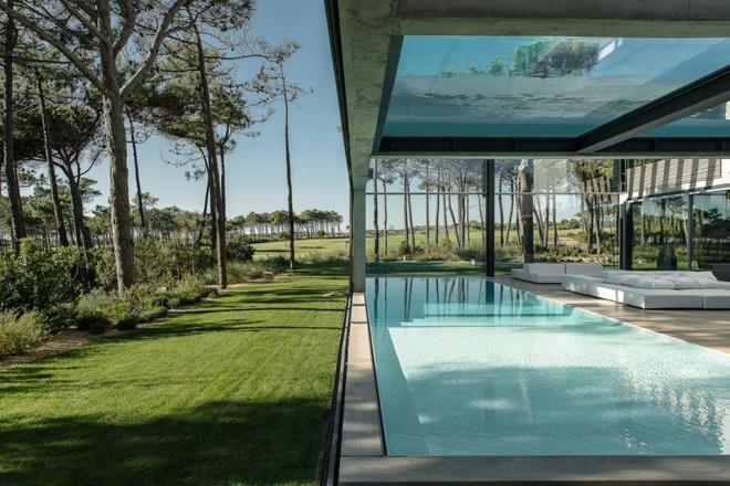 Biệt thự vườn cực chất với bể bơi đáy kính trong suốt trên trần nhà - Ảnh 3.