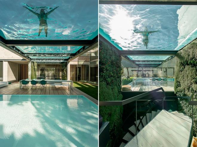 Biệt thự vườn cực chất với bể bơi đáy kính trong suốt trên trần nhà - Ảnh 4.