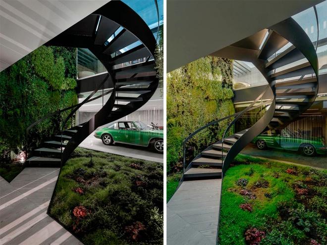 Biệt thự vườn cực chất với bể bơi đáy kính trong suốt trên trần nhà - Ảnh 7.