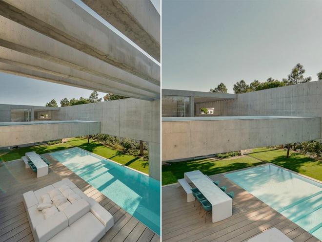 Biệt thự vườn cực chất với bể bơi đáy kính trong suốt trên trần nhà - Ảnh 10.