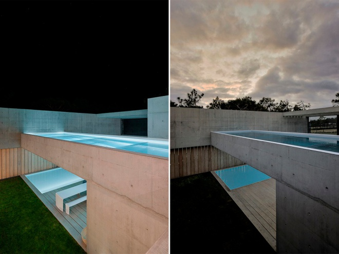 Biệt thự vườn cực chất với bể bơi đáy kính trong suốt trên trần nhà - Ảnh 13.