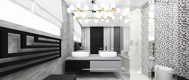 Đèn chùm – món đồ hữu dụng biến phòng tắm gia đình trông vừa đẹp vừa sang trong phút chốc - Ảnh 2.