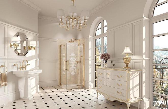 Đèn chùm – món đồ hữu dụng biến phòng tắm gia đình trông vừa đẹp vừa sang trong phút chốc - Ảnh 3.