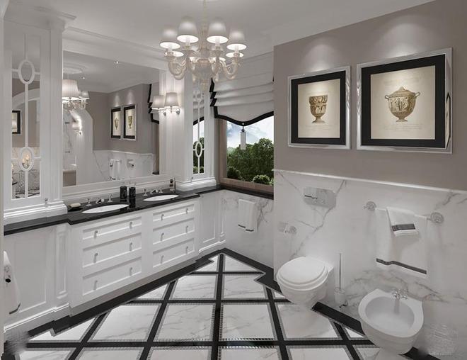 Đèn chùm – món đồ hữu dụng biến phòng tắm gia đình trông vừa đẹp vừa sang trong phút chốc - Ảnh 4.