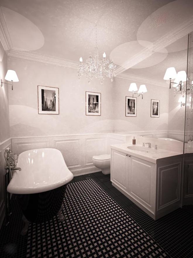 Đèn chùm – món đồ hữu dụng biến phòng tắm gia đình trông vừa đẹp vừa sang trong phút chốc - Ảnh 5.