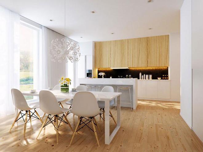 Sơn trắng toàn bộ không gian kết hợp nội thất gỗ - màu công thức cho một căn bếp nhỏ tinh tế và hiện đại - Ảnh 6.
