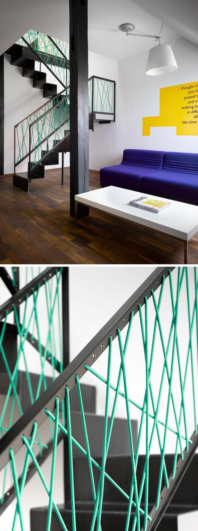 Không gian sống của gia đình thêm đẹp với mẫu cầu thang dây vô cùng độc đáo - Ảnh 2.
