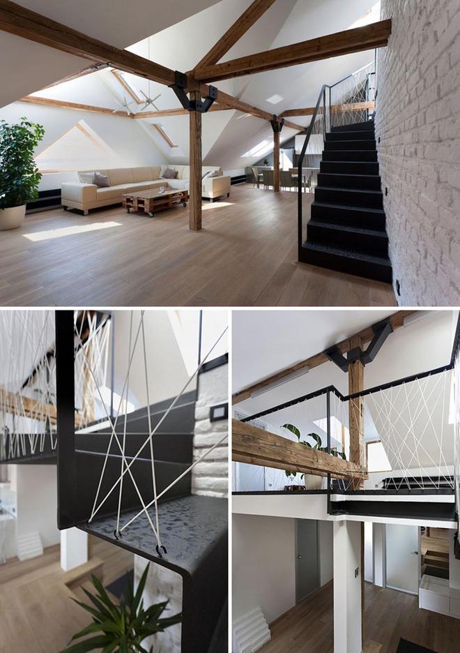 Không gian sống của gia đình thêm đẹp với mẫu cầu thang dây vô cùng độc đáo - Ảnh 5.