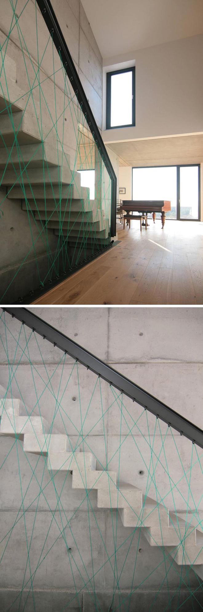 Không gian sống của gia đình thêm đẹp với mẫu cầu thang dây vô cùng độc đáo - Ảnh 7.