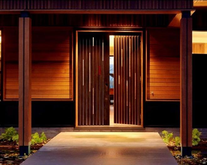 Nét thanh lịch khó chối từ của những cánh cửa gỗ - Ảnh 9.
