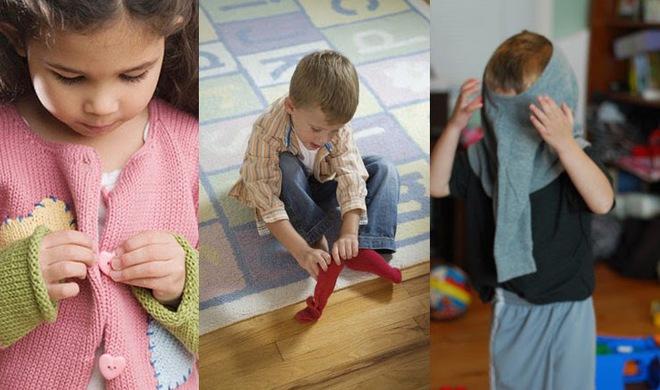 Tuần tự các bước dạy bé tự mặc quần áo đơn giản đến không ngờ - Ảnh 2.