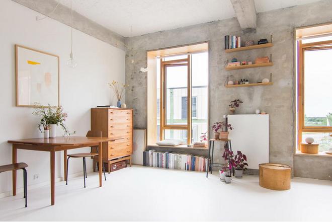 Căn hộ 25m² với tường thô trát xi măng vẫn trở thành không gian vạn người mơ ước - Ảnh 1.