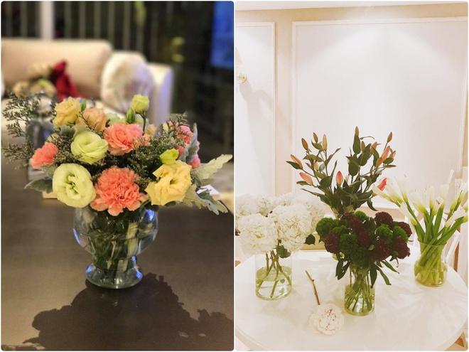 Ngắm căn hộ góc nào cũng lãng mạn và ngọt ngào với hoa tươi của hoa hậu Phạm Hương - Ảnh 8.