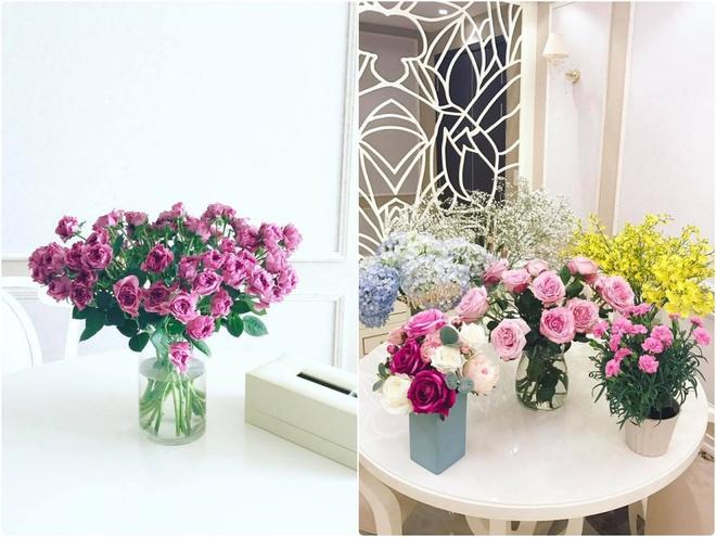 Ngắm căn hộ góc nào cũng lãng mạn và ngọt ngào với hoa tươi của hoa hậu Phạm Hương - Ảnh 9.