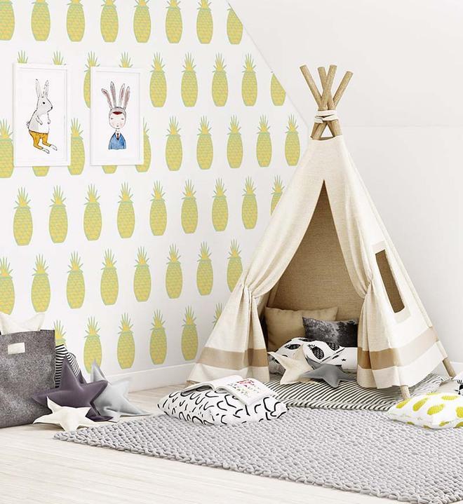 Những mẫu giấy dán tường không thể đáng yêu hơn cho phòng ngủ của bé - Ảnh 1.