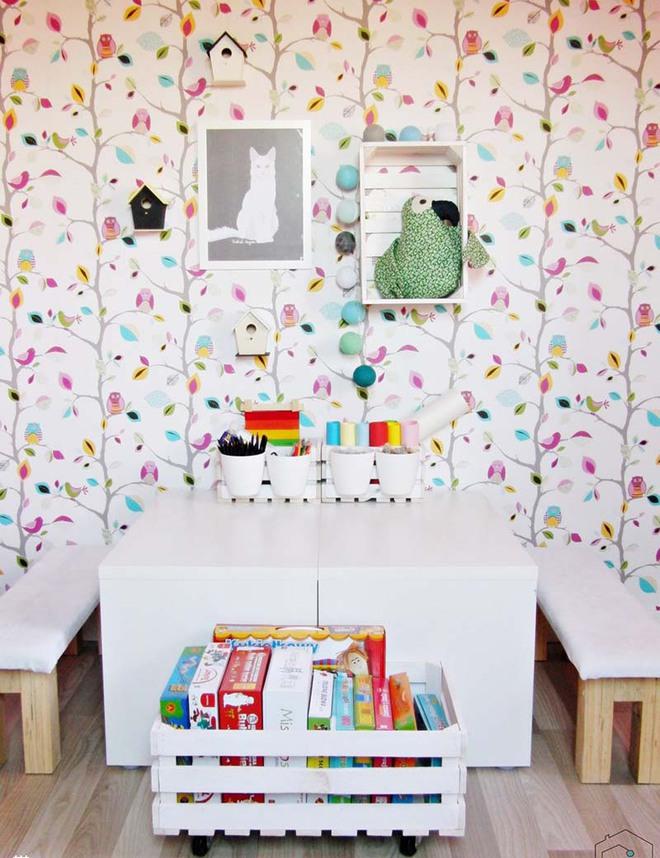 Những mẫu giấy dán tường không thể đáng yêu hơn cho phòng ngủ của bé - Ảnh 3.
