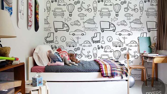 Những mẫu giấy dán tường không thể đáng yêu hơn cho phòng ngủ của bé - Ảnh 14.
