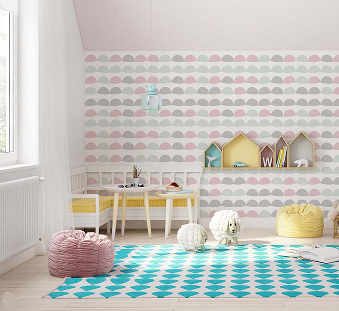 Những mẫu giấy dán tường không thể đáng yêu hơn cho phòng ngủ của bé - Ảnh 17.