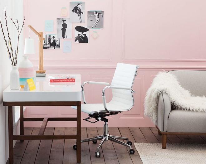 Phòng làm việc đẹp dịu dàng và bình yên với gam màu pastel khiến ai nhìn cũng yêu - Ảnh 3.