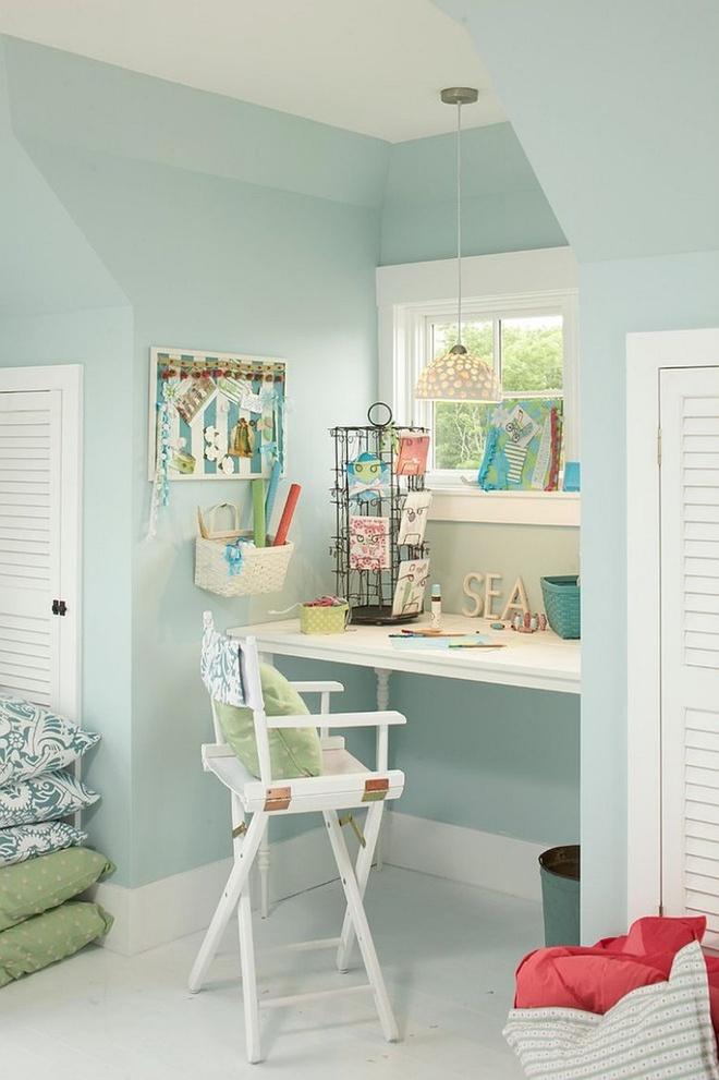 Phòng làm việc đẹp dịu dàng và bình yên với gam màu pastel khiến ai nhìn cũng yêu - Ảnh 6.
