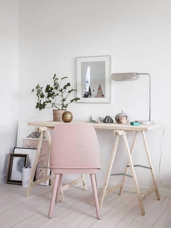 Phòng làm việc đẹp dịu dàng và bình yên với gam màu pastel khiến ai nhìn cũng yêu - Ảnh 9.