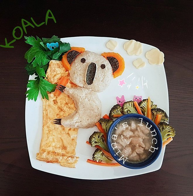 Mẹ Việt ở Úc<b style=color:#FA5742><i> hướng dẫn </i></b>các bước đơn giản làm cơm bento cho bé ăn thun thút - Ảnh 7.