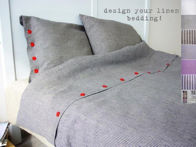11 mẫu chăn ga gối bằng vải linen mềm mại và ấm áp nên có trong phòng ngủ vào mùa thu đông - Ảnh 4.