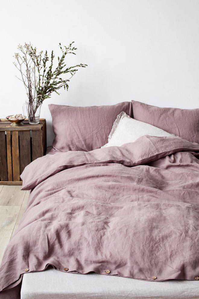 11 mẫu chăn ga gối bằng vải linen mềm mại và ấm áp nên có trong phòng ngủ vào mùa thu đông - Ảnh 6.