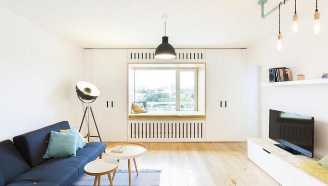 Căn hộ nhỏ trang trí theo phong cách tối giản đẹp hút mắt nhờ điểm nhấn màu sắc tinh tế - Ảnh 2.