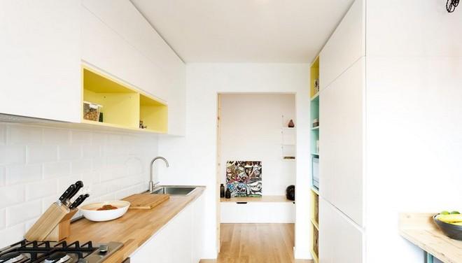Căn hộ nhỏ trang trí theo phong cách tối giản đẹp hút mắt nhờ điểm nhấn màu sắc tinh tế - Ảnh 3.