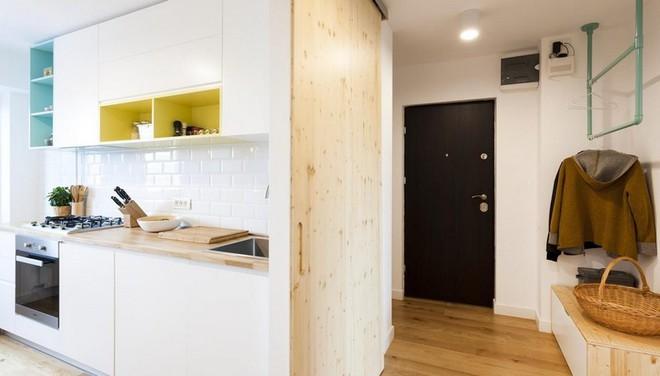 Căn hộ nhỏ trang trí theo phong cách tối giản đẹp hút mắt nhờ điểm nhấn màu sắc tinh tế - Ảnh 5.