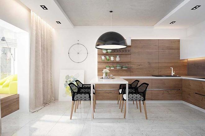 Bàn ăn màu trắng - Đơn giản và phù hợp với mọi phong cách trang trí nhà - Ảnh 3.