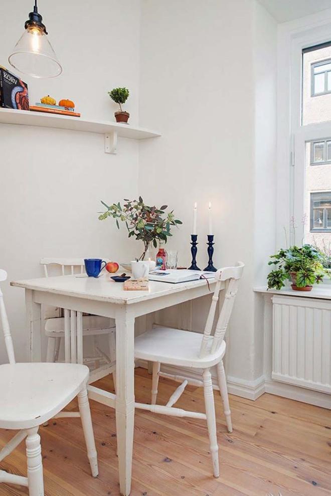 Bàn ăn màu trắng - Đơn giản và phù hợp với mọi phong cách trang trí nhà - Ảnh 4.