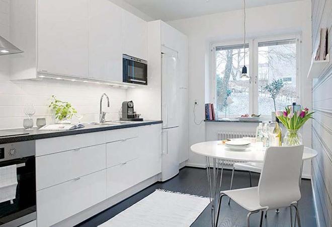Bàn ăn màu trắng - Đơn giản và phù hợp với mọi phong cách trang trí nhà - Ảnh 6.