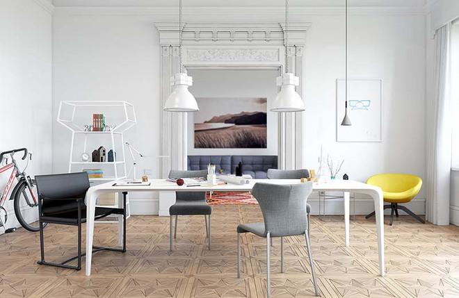 Bàn ăn màu trắng - Đơn giản và phù hợp với mọi phong cách trang trí nhà - Ảnh 11.