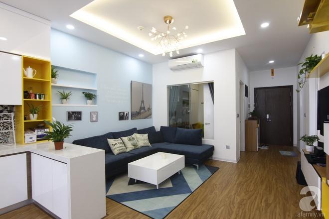 Căn hộ 75m² với điểm nhấn nghệ thuật từ ánh sáng có chi phí rẻ đến bất ngờ ở Hoàng Mai, Hà Nội - Ảnh 1.