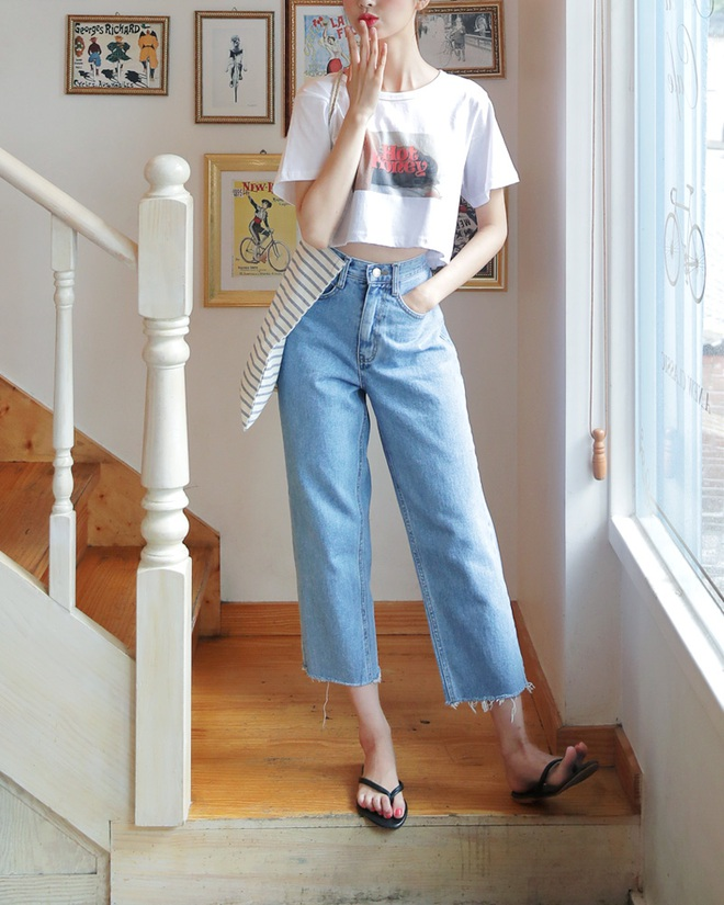 Muốn mặc quần jeans nhưng lại ngại chân ngắn, bạn cứ mua 7 kiểu quần này - Ảnh 7.