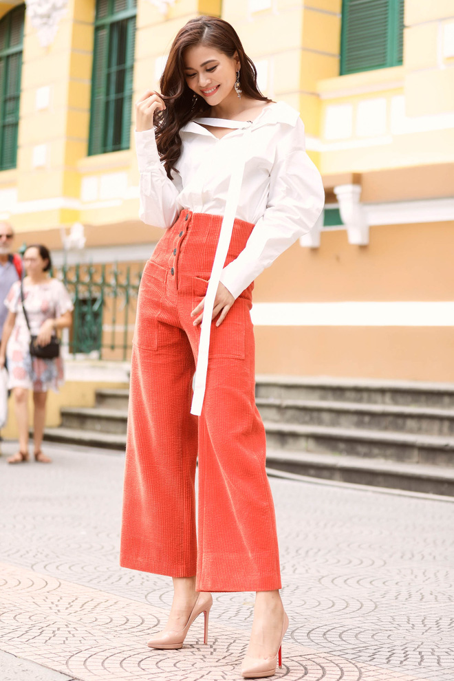 Mâu Thủy điệu đà thả dáng trên phố sau khi bị chê vì sợ độ cao ở Hoa hậu Hoàn vũ - ảnh 3