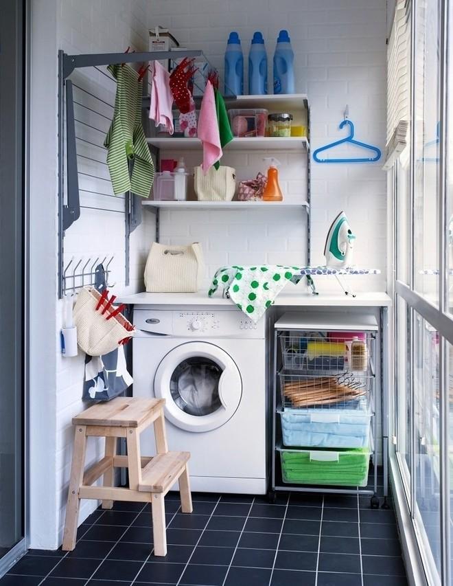 Ban công - vị trí vàng để bố trí máy giặt cho nhà chật - Ảnh 5.