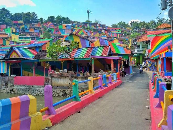 Ngôi làng như khu ổ chuột bỗng hóa thành cầu vồng chốn trần gian vì ý tưởng vô cùng độc đáo - Ảnh 2.