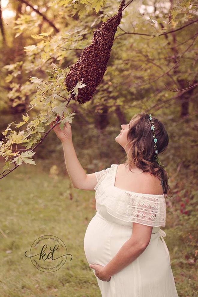 Bí mật bất ngờ phía sau bức hình mẹ bầu chụp hình cùng hàng ngàn con ong - ảnh 3