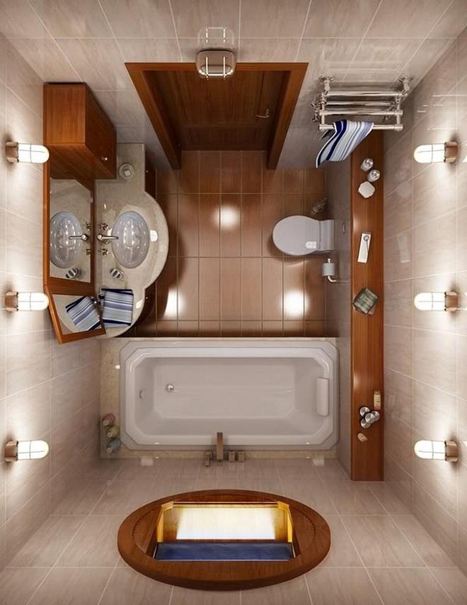 Những lời khuyên thông minh cho nhà tắm diện tích nhỏ thêm tiện dụng  - Ảnh 2.