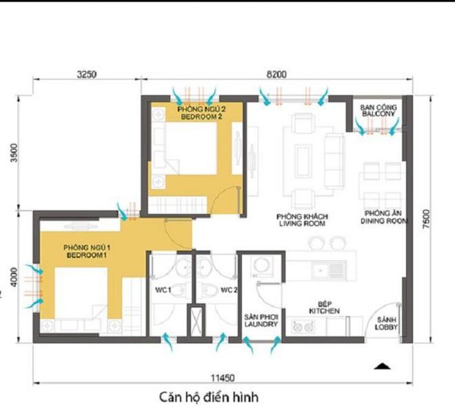 Tư vấn bố trí nội thất căn hộ 70m² với 2 phòng ngủ gọn thoáng và hợp phong thủy cho vợ chồng 8x - Ảnh 1.