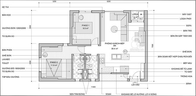 Tư vấn bố trí nội thất căn hộ 70m² với 2 phòng ngủ gọn thoáng và hợp phong thủy cho vợ chồng 8x - Ảnh 2.