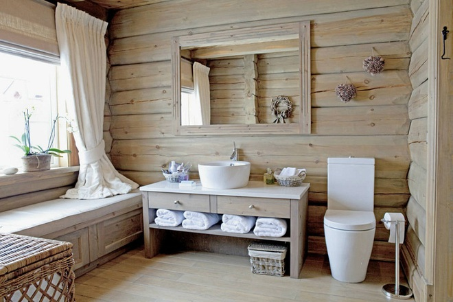 Những nhà tắm bằng gỗ chỉ liếc mắt trông qua cũng đủ khiến bạn xao xuyến - Ảnh 1.