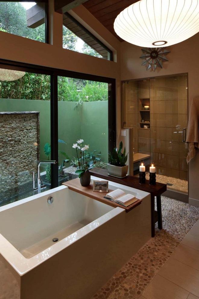 Nhìn ngắm vẻ đẹp khiến tim bạn rụng rời của những mẫu phòng tắm mang phong cách Midcentury - Ảnh 1.