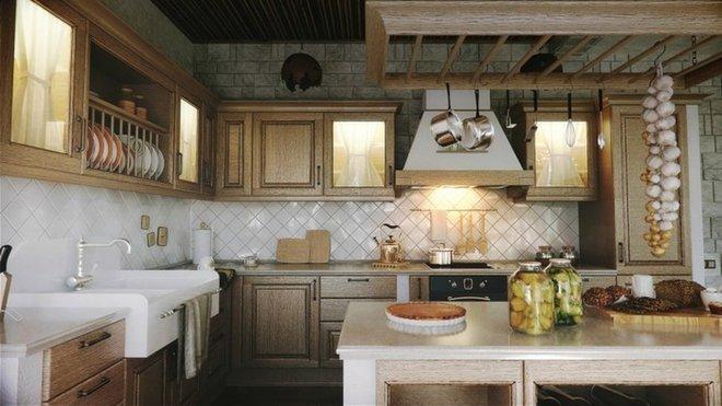 10 ý tưởng phòng bếp truyền thống sang trọng nhưng vô cùng ấm cúng - Ảnh 1.