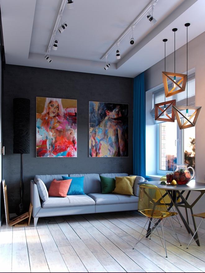 Ấn tượng với thiết kế của căn hộ vỏn vẹn 30m² có những gam màu trang trí vô cùng bắt mắt - Ảnh 1.