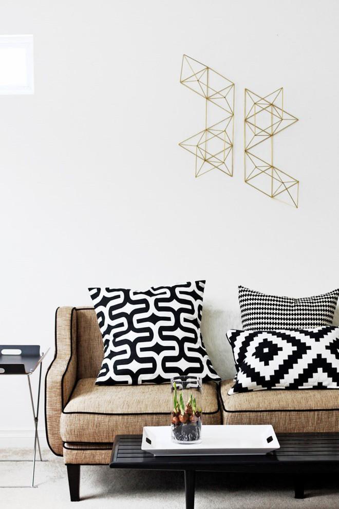 Trang trí phòng khách với gối tựa lưng bằng len siêu đẹp - Ảnh 2.